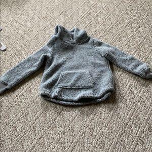 Grey fluffy sweatshirt